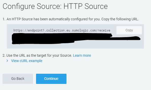 Sumologic endpoint URL