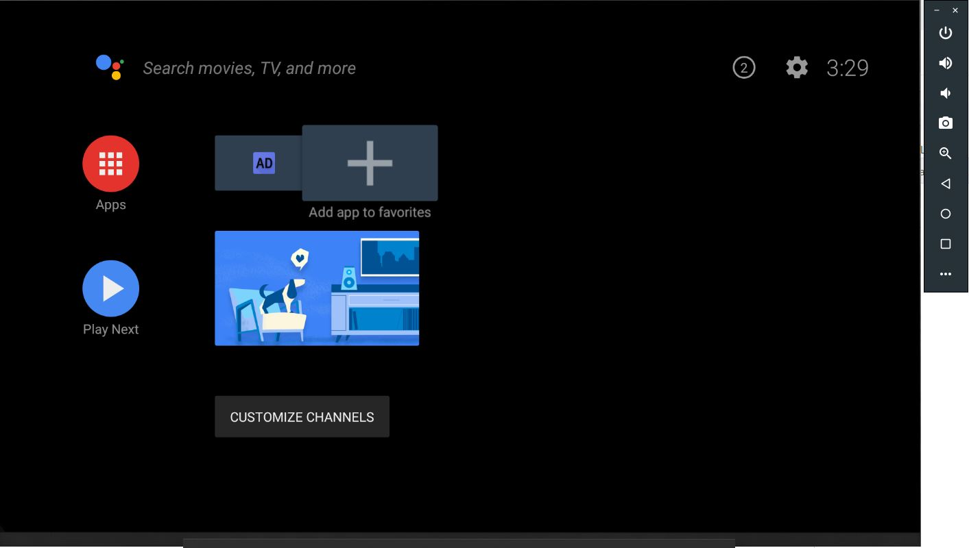 Android TV Xamarin with shortcut